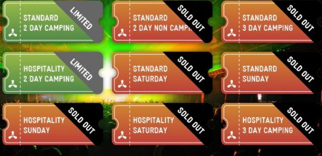 Creamfields Sunday hospitality tickets now sold out!