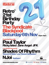 Preview: Retro 21st Birthday @ Syndicate, Blackpool
