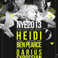 WeAreJunk NYE w/ Heidi, Ben Pearce and Darius Syrossian