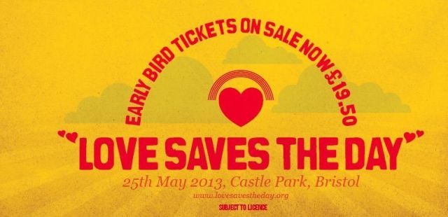 Love Saves The Day returns - earlybird tickets now on sale
