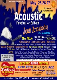 Just over 2 weeks to go to this years Acoustic Festival of Britain